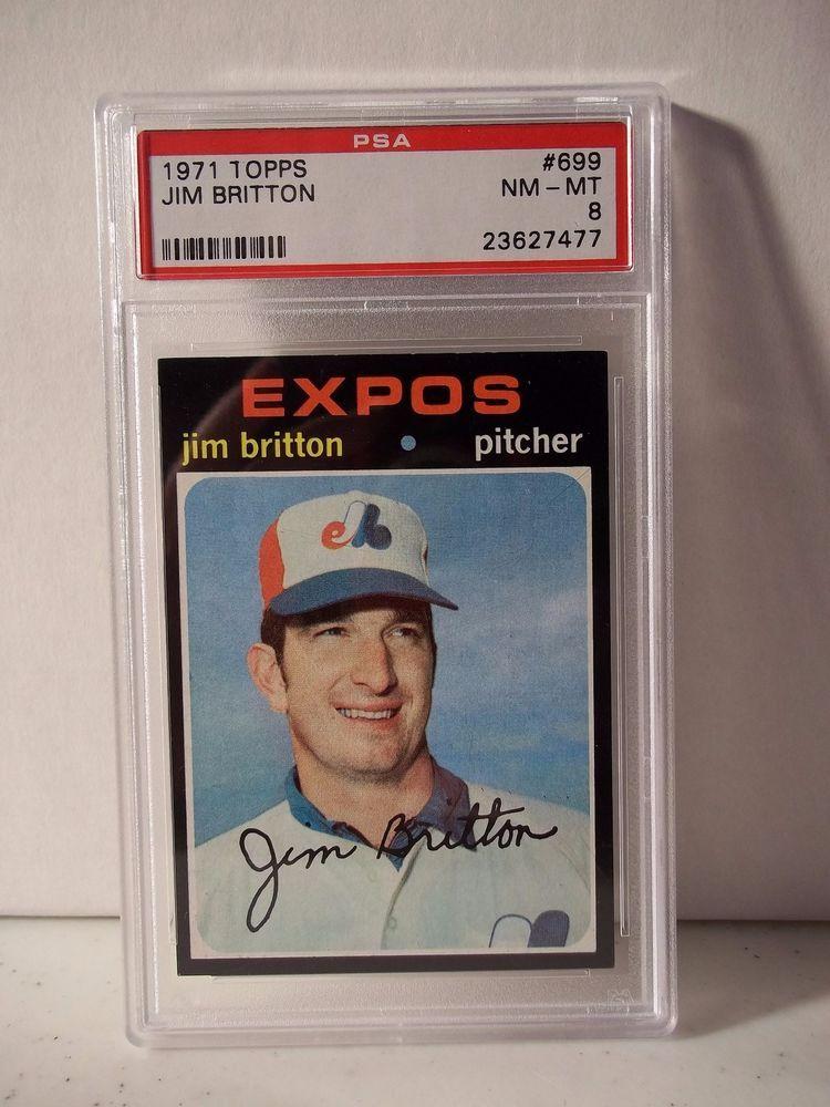 1971 topps jim britton psa graded nmmt 8 baseball card