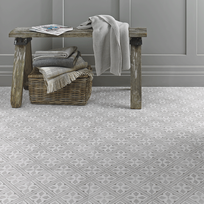 Laura Ashley The Heritage Collection Mr Jones Dove Grey Floor