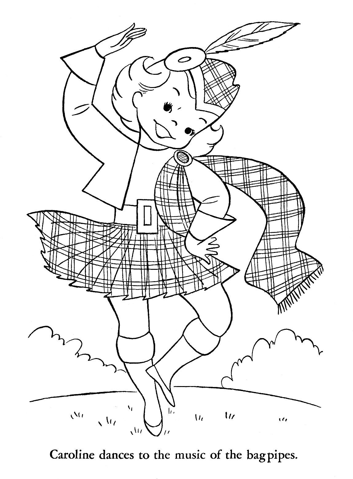 christmas in scotland coloring pages