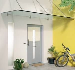 überdachungen Eingangsbereich vordächer aus glas kombiniert mit aluminium und edelstahl roos aus
