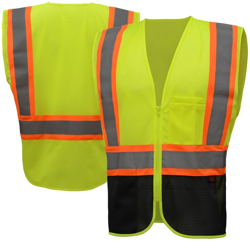 Gss safety 1105 class 2 hivis contrast black bottom safety