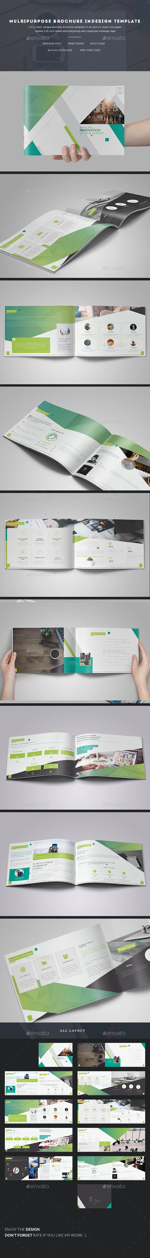 Multipurpose Brochure InDesign Template | Plantas