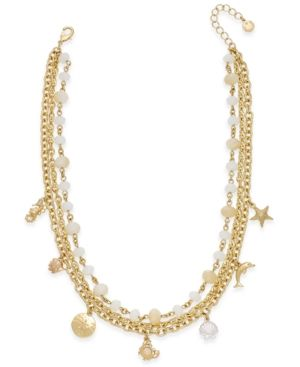 Charter Club Gold-Tone Sea Charm Multi-Strand Necklace, Only at Macy's - Gold