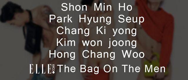 Korea Model모델 /Idol아이돌: ELLE /The Bag On The Men 2013