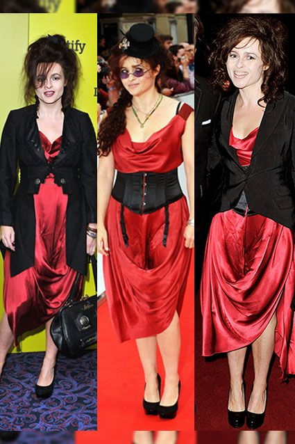 Fashion Faux Pas Celebs Who Recycle Outfits Helena Bonham Carter Vogue Editor In Chief Helena Bonham