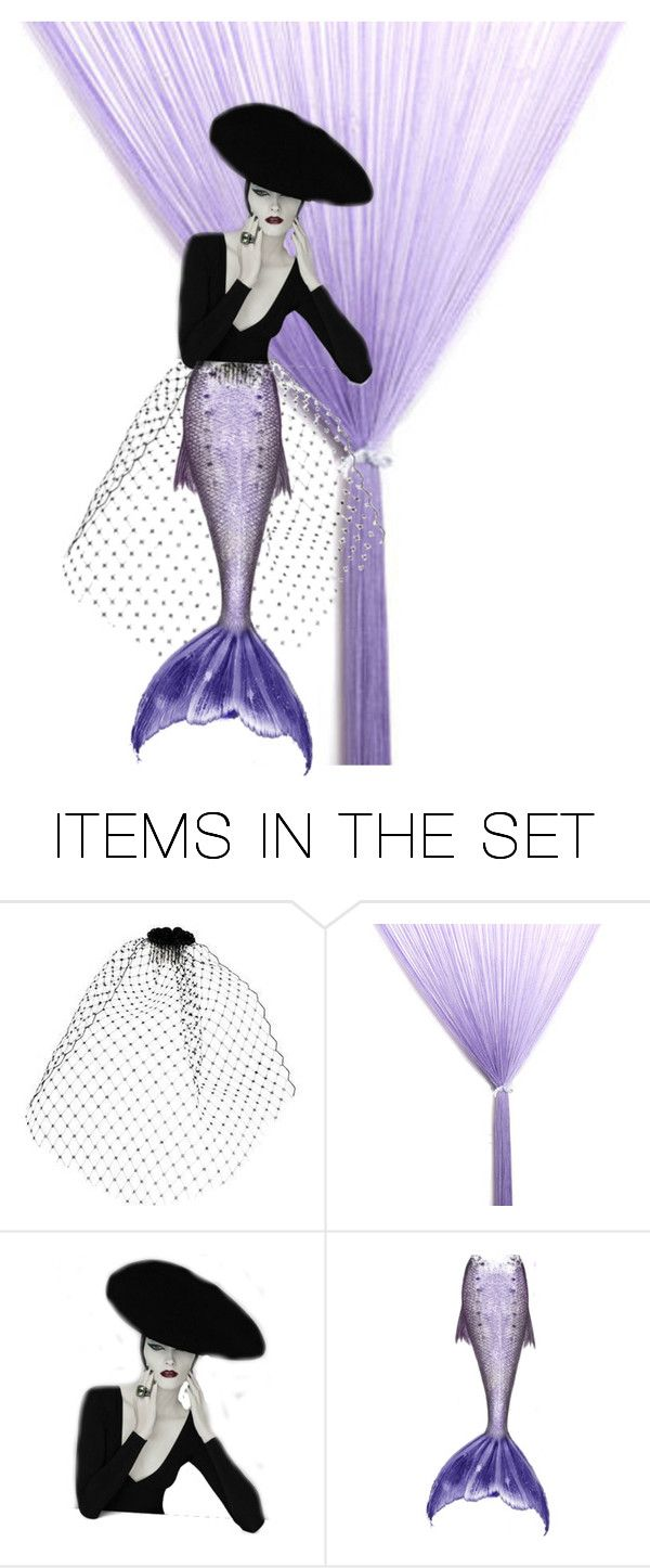 """""""Mermaid Couture"""" by metter1 ❤ liked on Polyvore featuring art and purplemermaidtail"""