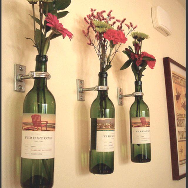 30 maneiras para reutilizar garrafas de vidro na decoração da casa ...