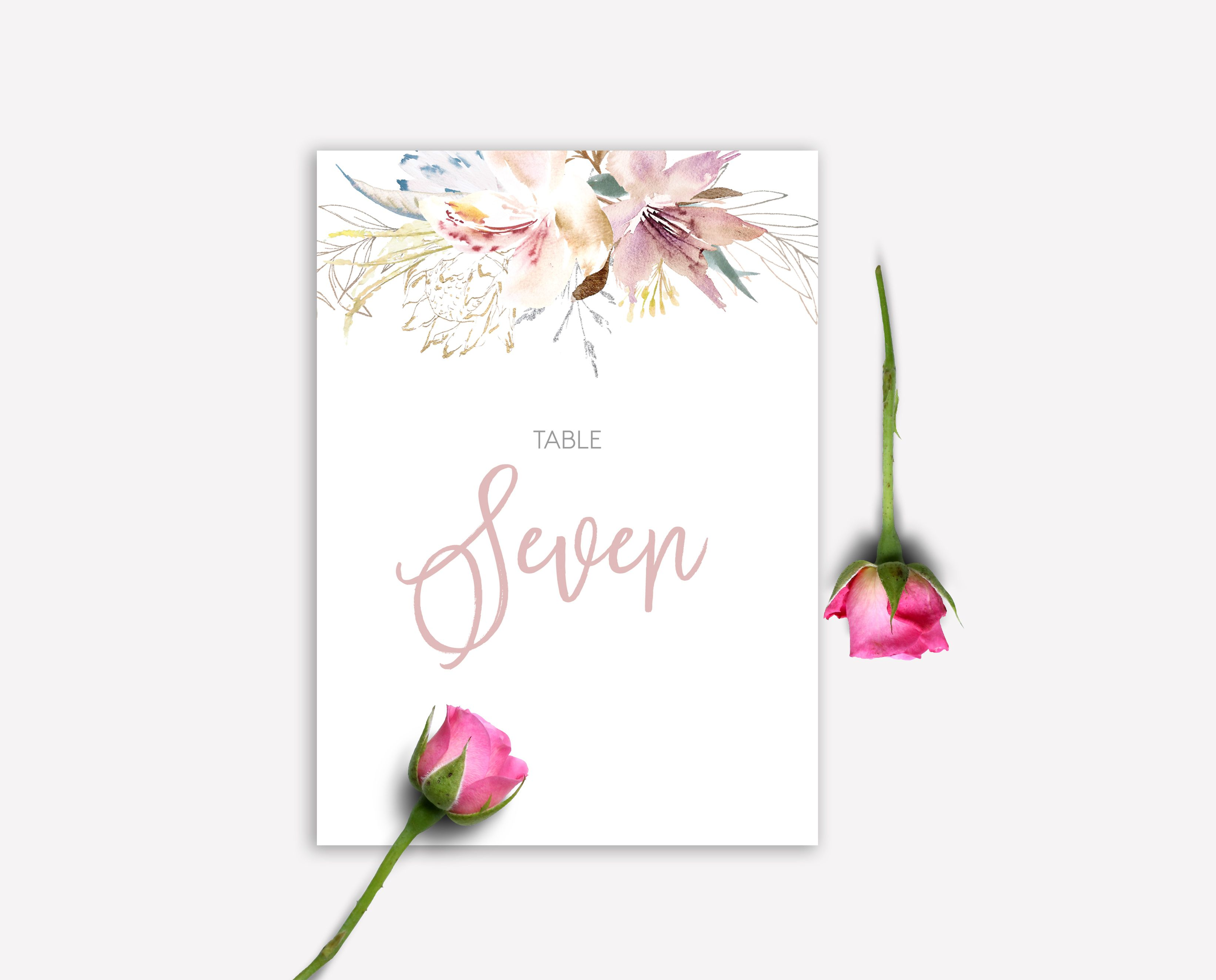 Fleur De Lis Floral Calligraphy Muted Pastel Blue Pink Green
