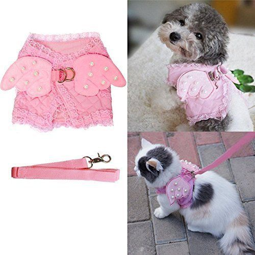 Petty Love House Adorable Small Pet Cat Dog Harness And Leash Set