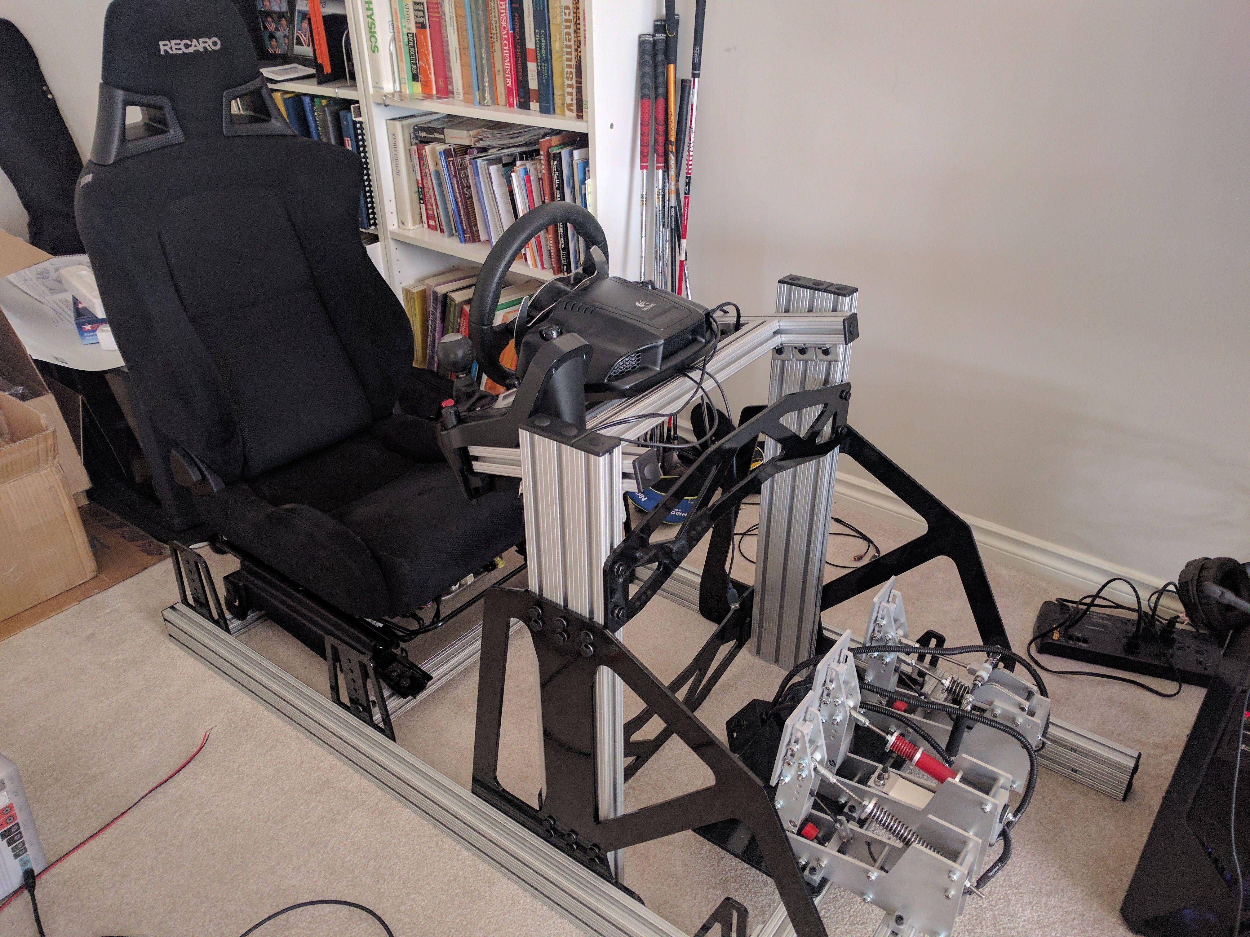 8020 Custom Sim Rig Build   Racing simulator in 2019