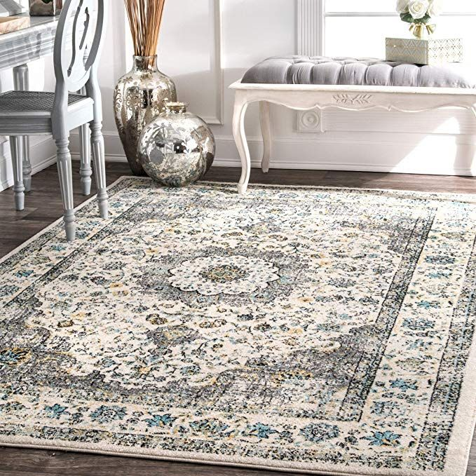 Nuloom Traditional Transitional Distressed Persian Area
