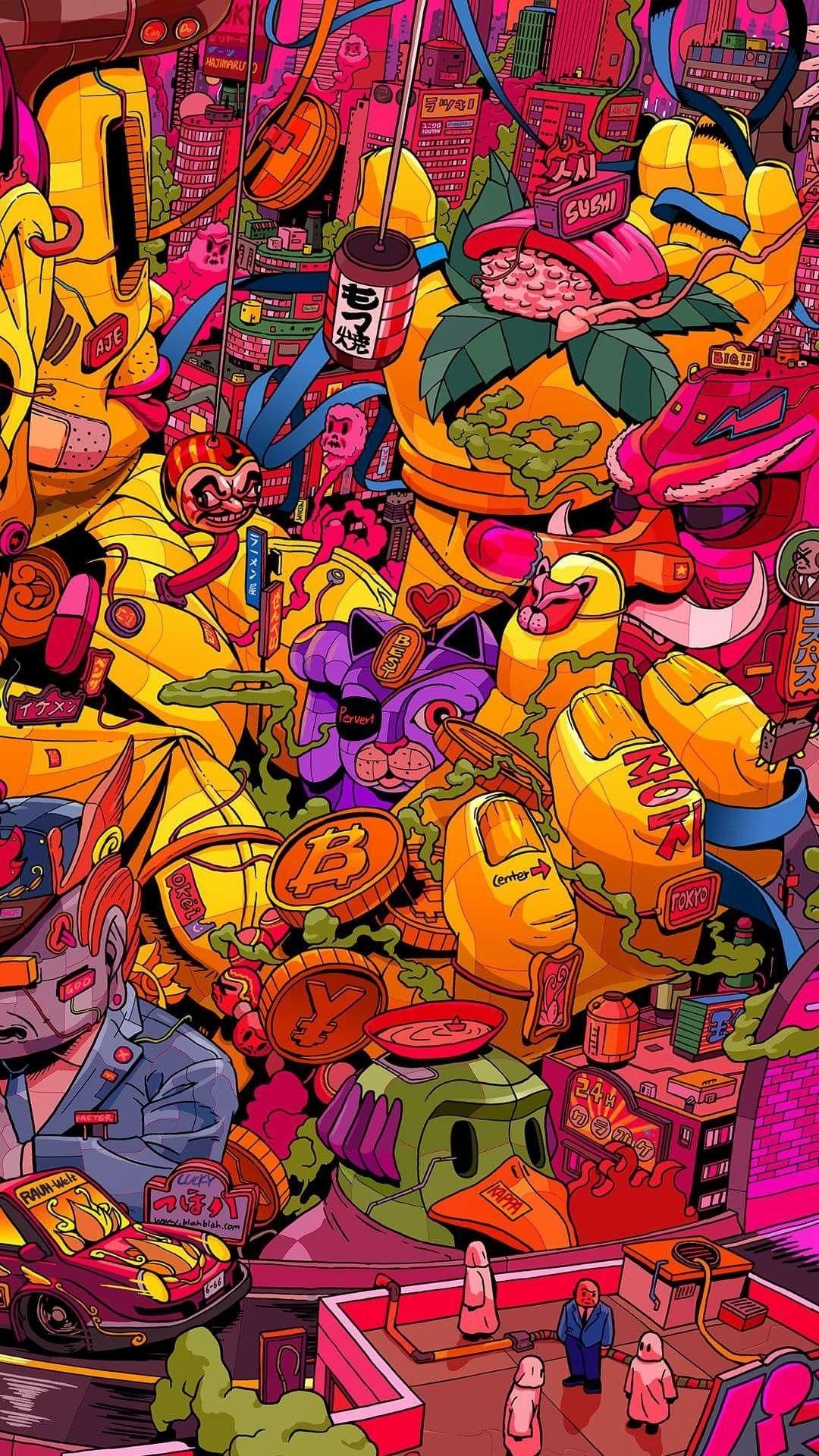 Mr Misang 3 4 Pop Art Wallpaper Art Wallpaper Graffiti Wallpaper
