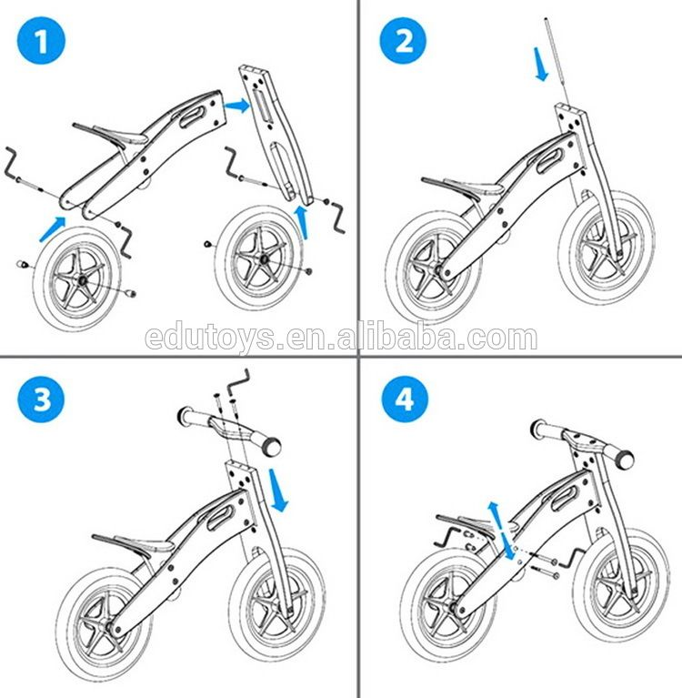 Hot Sale Ce Conform Wooden Kids Balance Bike For 6 Years Old View