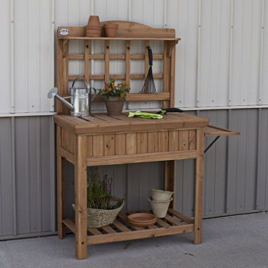 Peachy Potting Bench By Leisure Time Potting Benches Potting Gmtry Best Dining Table And Chair Ideas Images Gmtryco