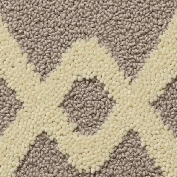 Chain Link Tufted Wool Rug In Ice Fog Colorway Designed By Merida Studio And Made Fall River Ma