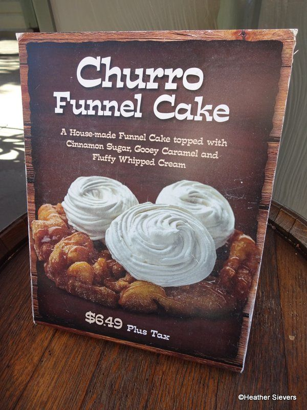 Dining In Disneyland Churro Funnel Cake From Hungry Bear Restaurant