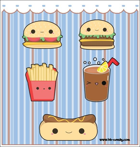 Food With Faces Cute Food Drawings Kawaii Doodles Kawaii