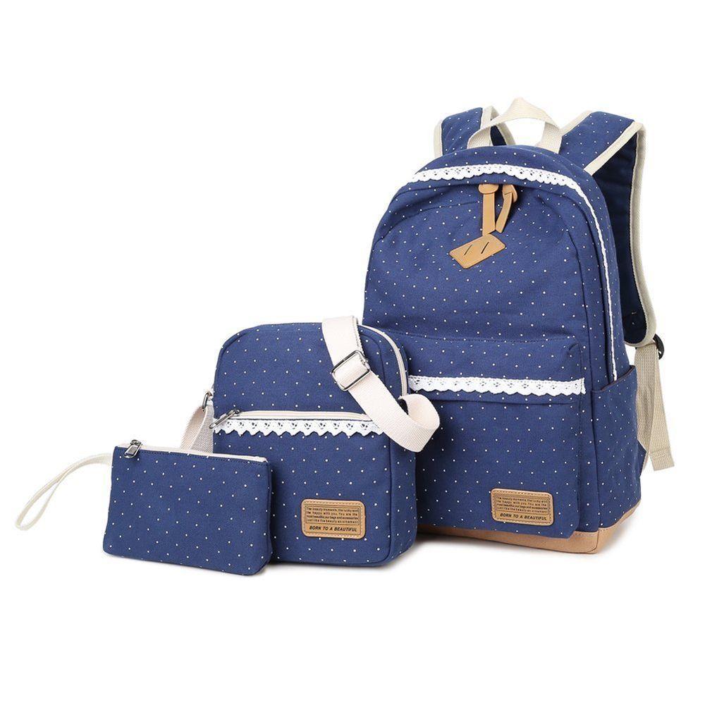 c736947a56b6 ... Bag · Abshoo Canvas Dot Backpack Cute Lightweight Teen Girls Backpacks  School Shoulder .