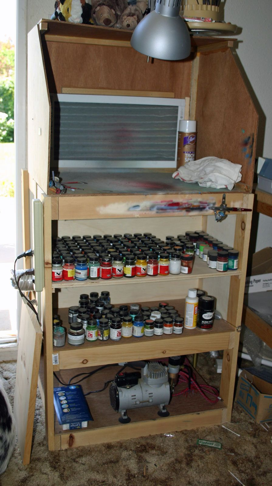 how to make a spray booth for airbrush
