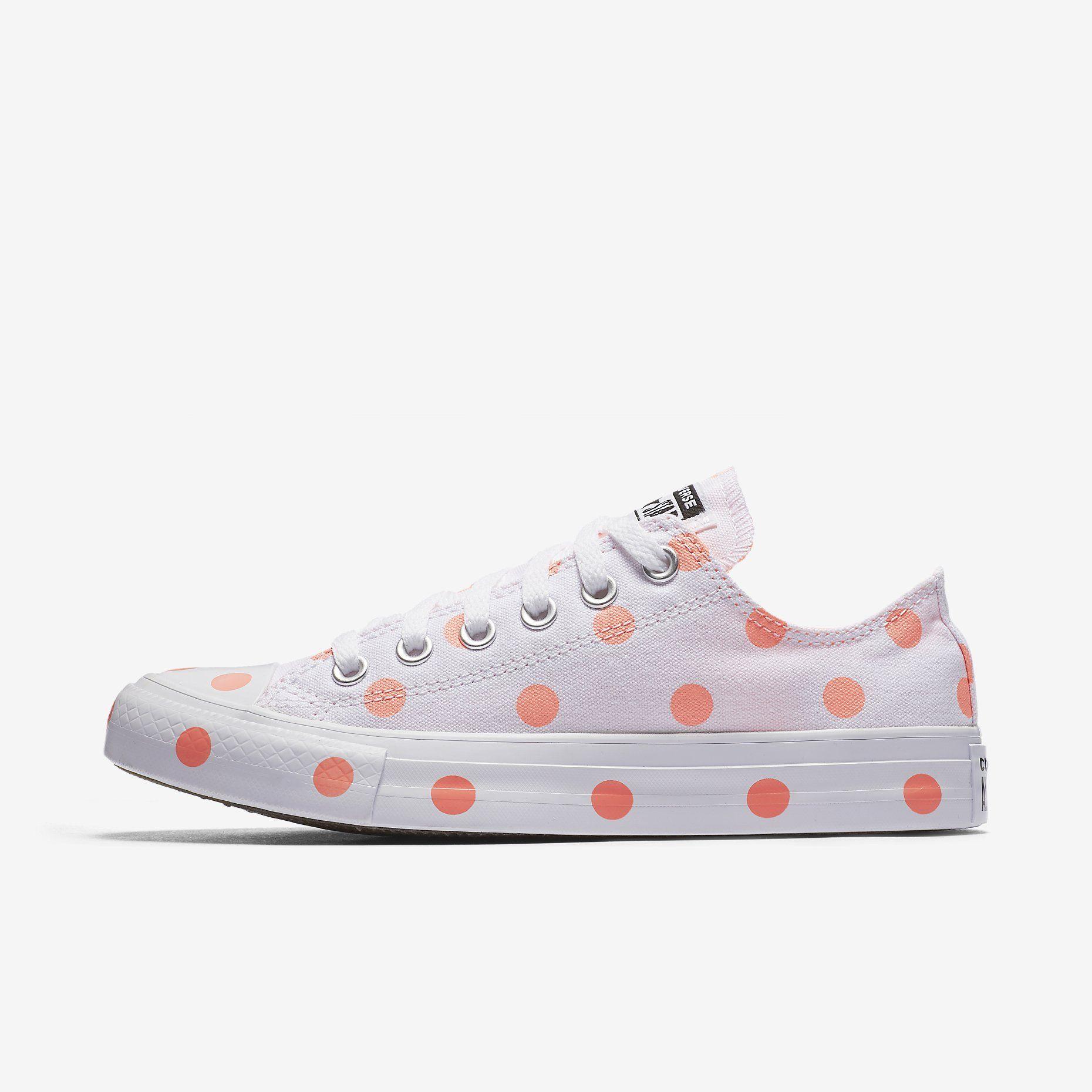 034c1b1d0941 Converse Chuck Taylor All Star Polka Dots Low Top Women s Shoe. Nike ...