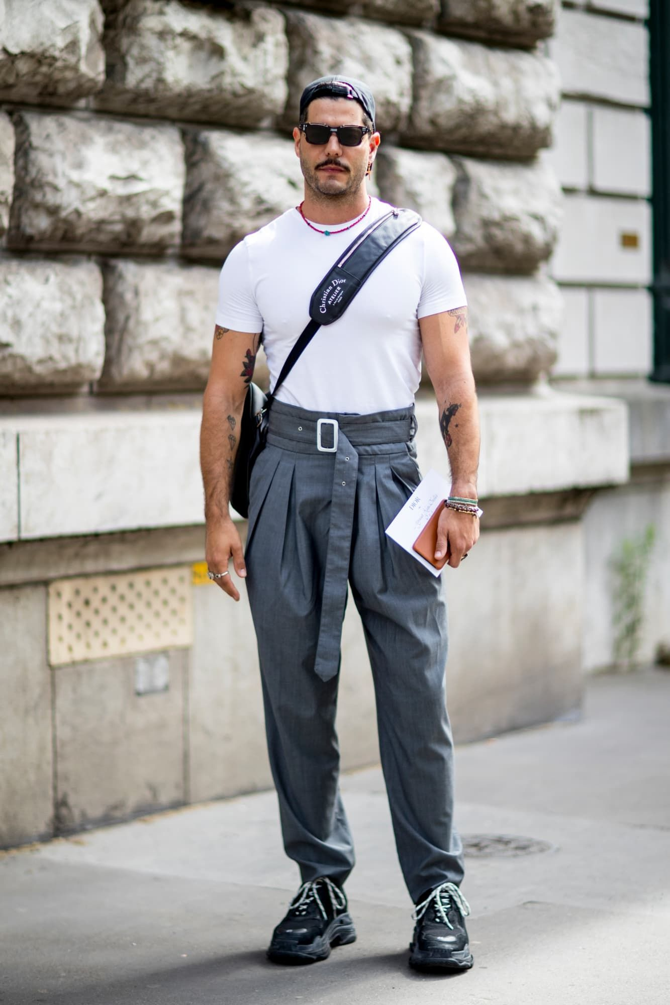 Suits With Sneakers Was the Outfit of Choice at Paris Fashion Week Men's #men'sfashion