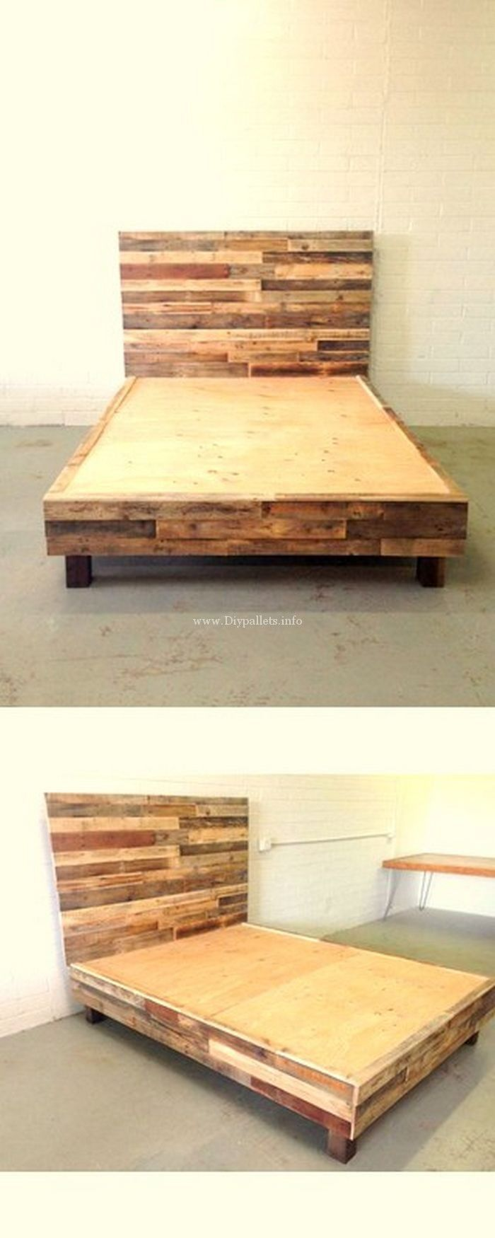 Stylish wooden pallets bed projects wooden pallets house in