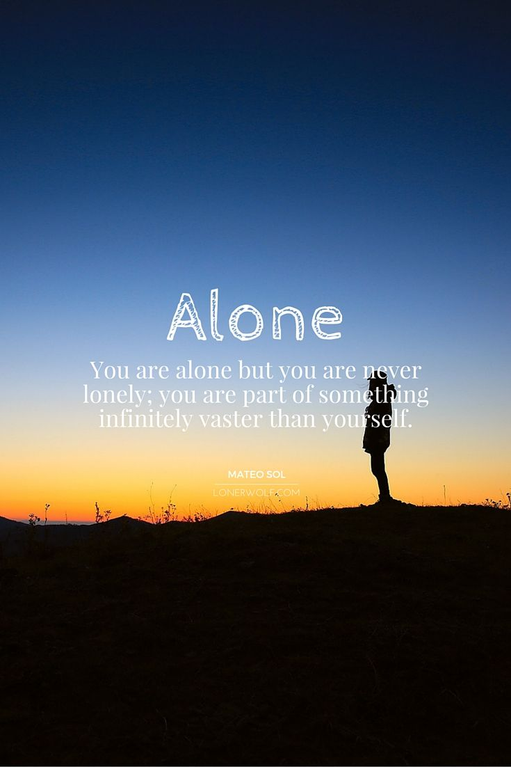 Inspirational Spiritual Quotes Being Alone Is Not The Same As Being Lonely Spiritual Quotes I