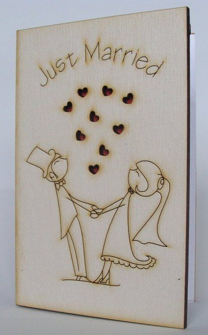 Wedding Day Greeting Wood Card Special Gift For Couple Etsy Wood Card Couple Gifts Wedding Greeting Cards