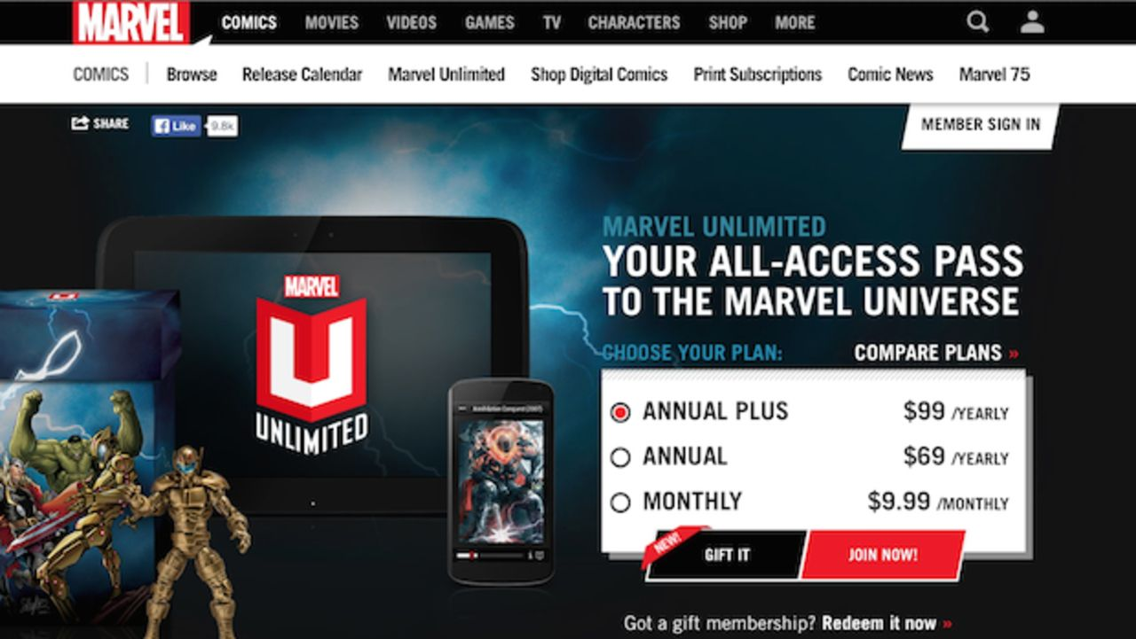 Marvel Unlimited Online Comic Book Collection http://www.instash ...