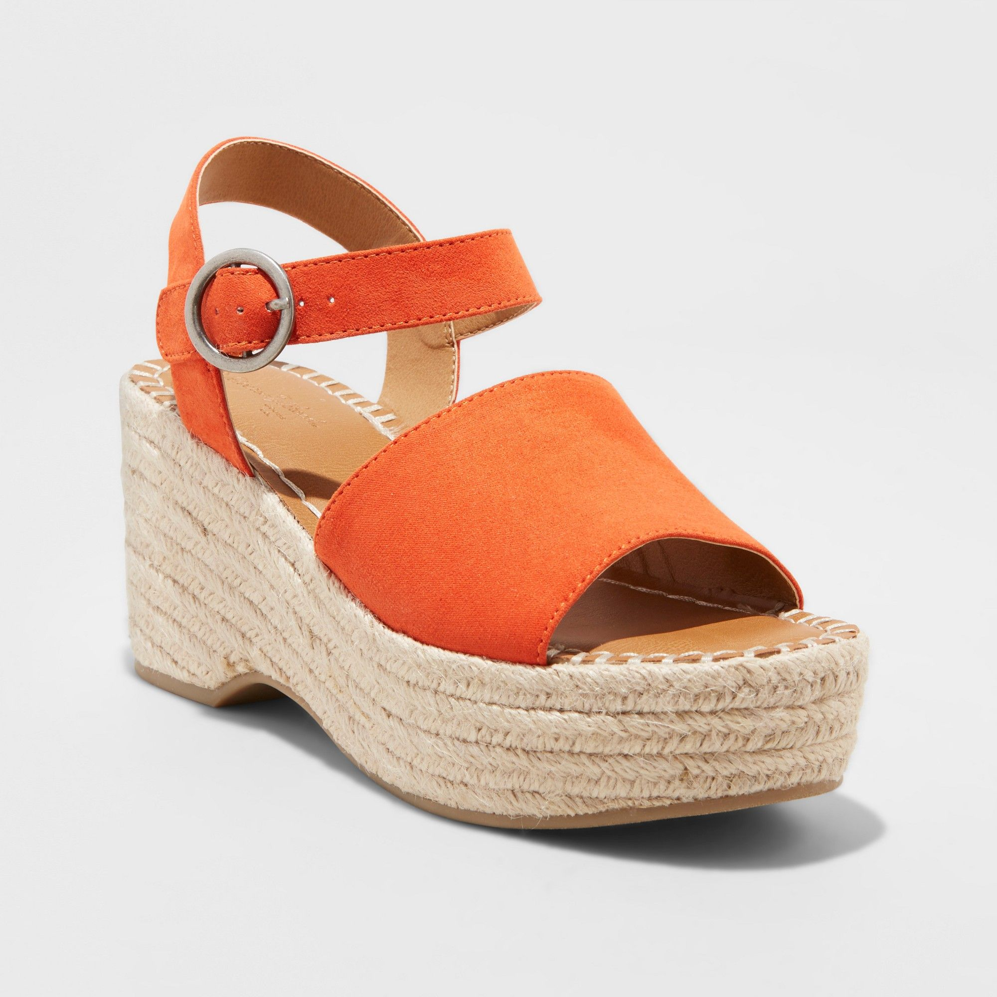 9f6ce6b0d16 Women's Morgan Two Piece Espadrille Wedge - Universal Thread Coral ...