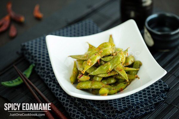 Spicy Edamame Recipe Appetizer Recipes Edamame Food