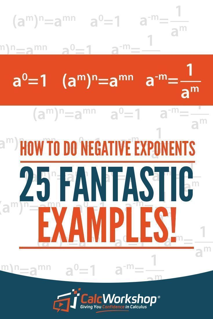 How to do negative exponents 25 amazing examples