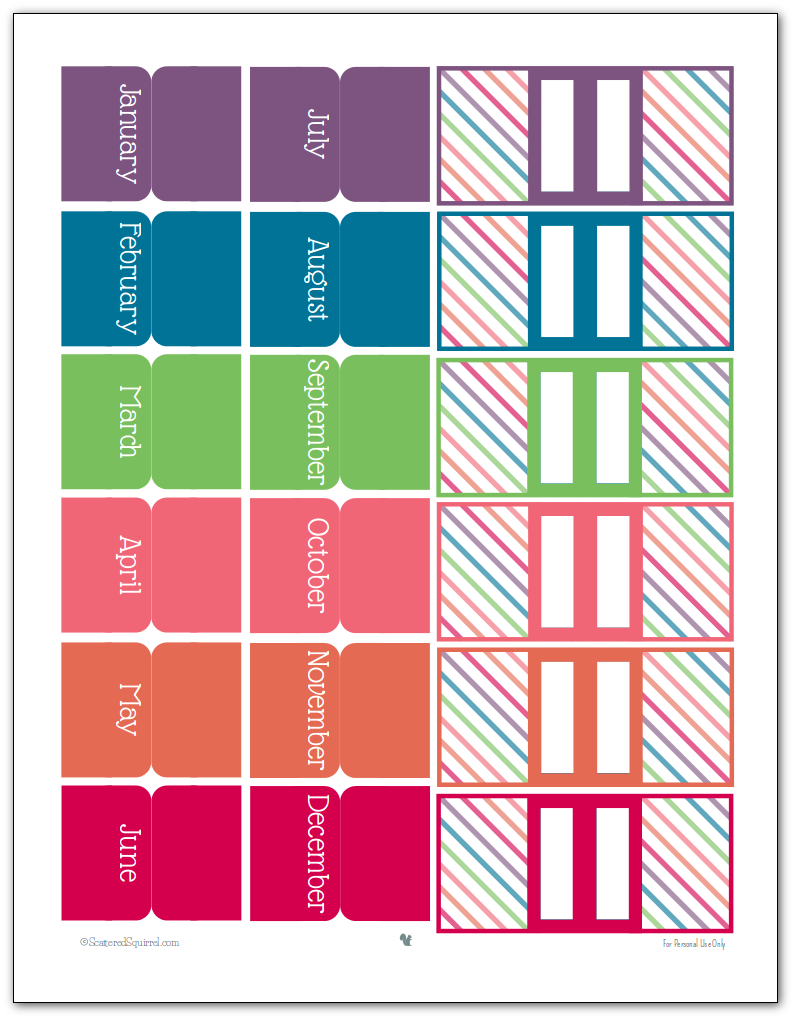 college planner printables