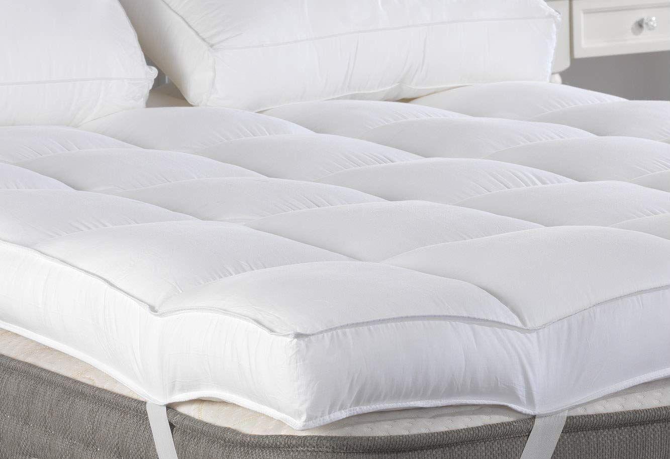 Marine Moon Queen Mattress Topper Plush Pillow Top Mattress Pad