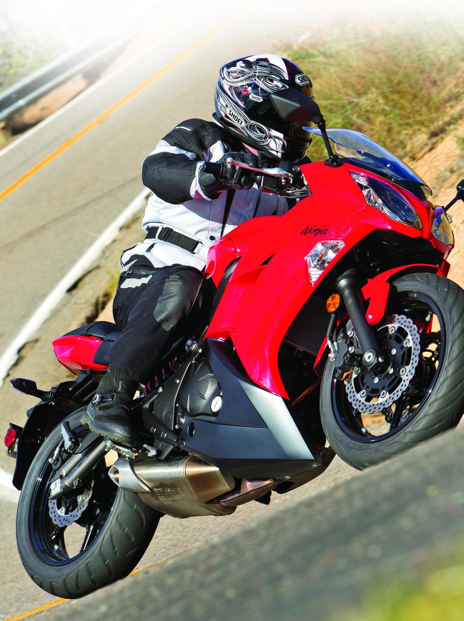 2012 Kawasaki Ninja 650 from Rider magazine.
