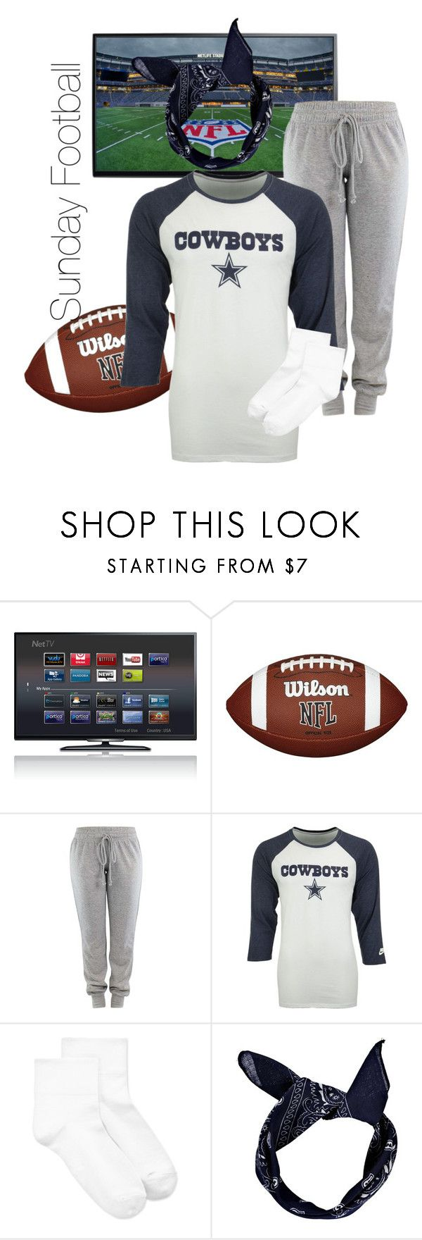 """""""Go DALLAS COWBOYS!"""" by nikitamarceau on Polyvore featuring NIKE, Hue and Boohoo"""