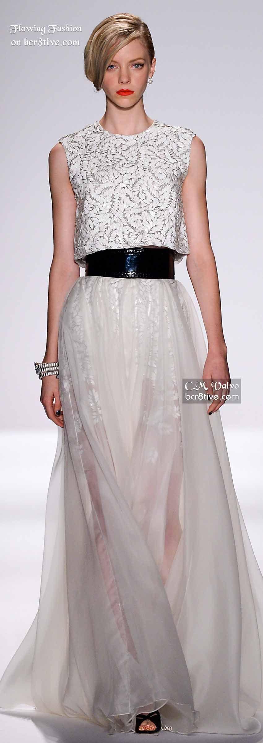 Flowing Fashion Spring Summer 2015 - Carmen Marc Valvo