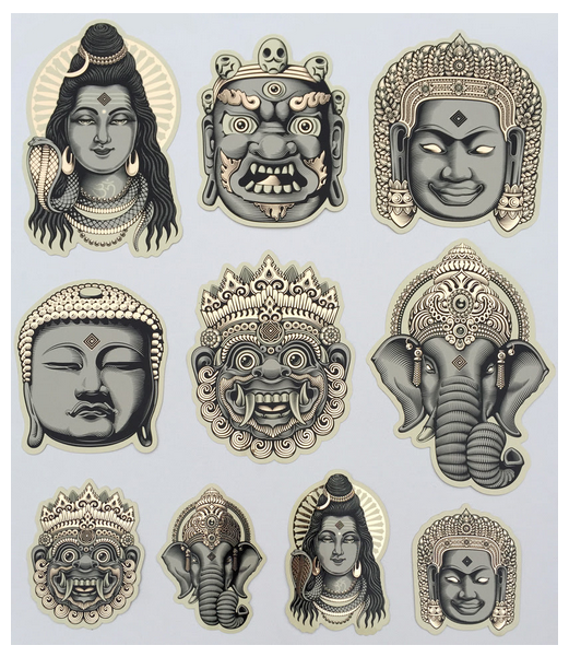 Cryptik The Gods II Stickers Available NOW