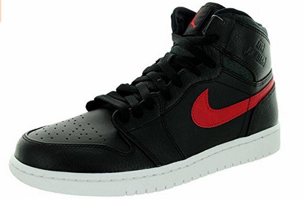 Nike Men s Air Jordan 1 Retro High Basketball Shoes 332550 012 Black Red White   NikeJordan  BasketballShoes a85c75e1af