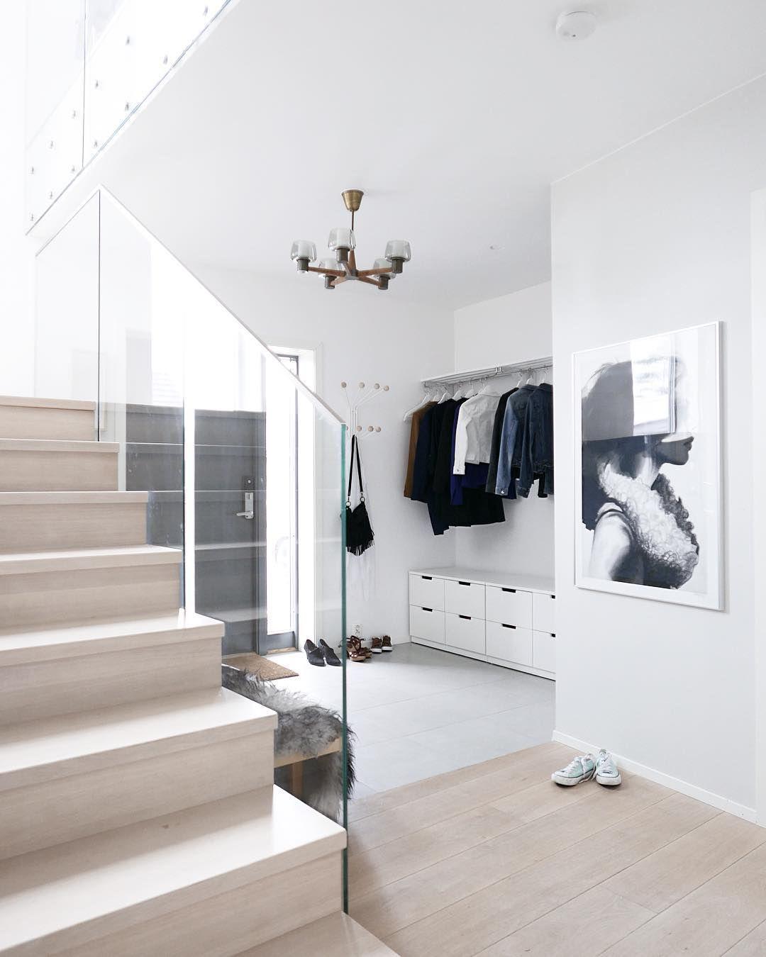 Hallway furniture habitat  stairs hall modern minimal white wood Ikea uNordli