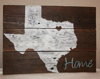 Texas Home Decor | Texas Sign Home Is Where The Heart Is Home Sign Texas Home Decor