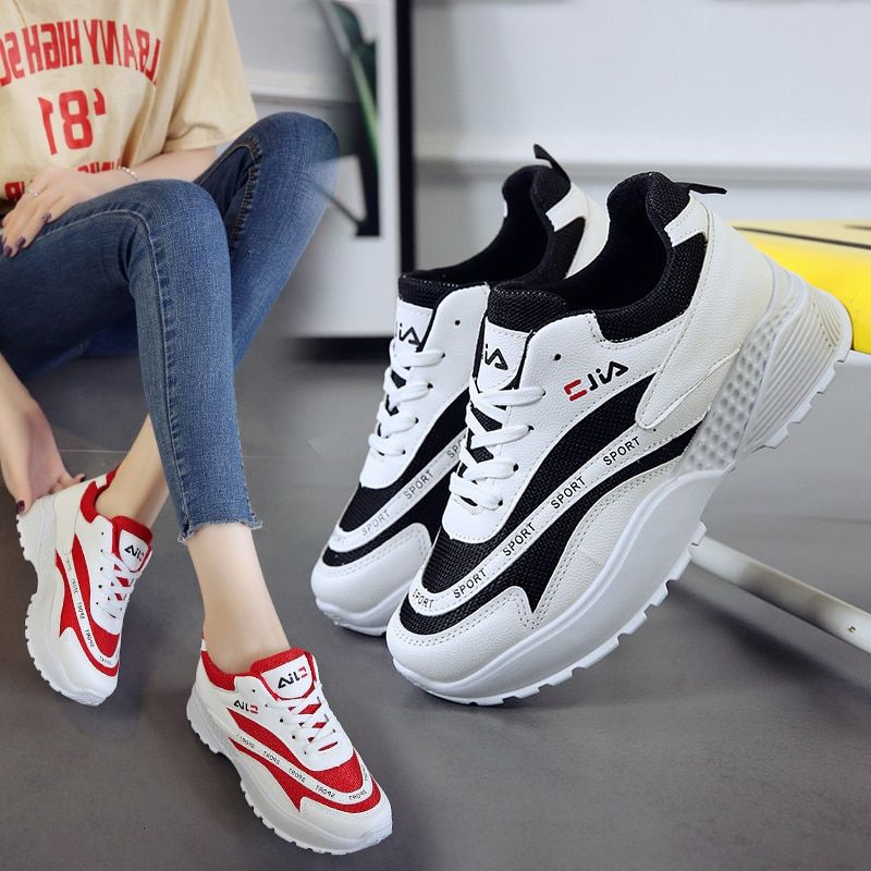 Womens Sports Tennis Shoes Walking Shoes Outdoor White Running GYM Sneakers
