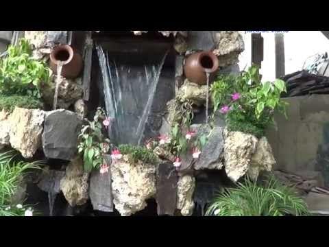 cascadas artificiales, jardin,muro llorón, piletas, fuentes de agua, velo de agua, panel de burbujas - YouTube