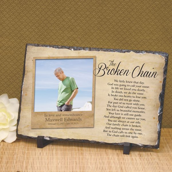 The Broken Chain Photo Plaque | Chains, Poem and Messages
