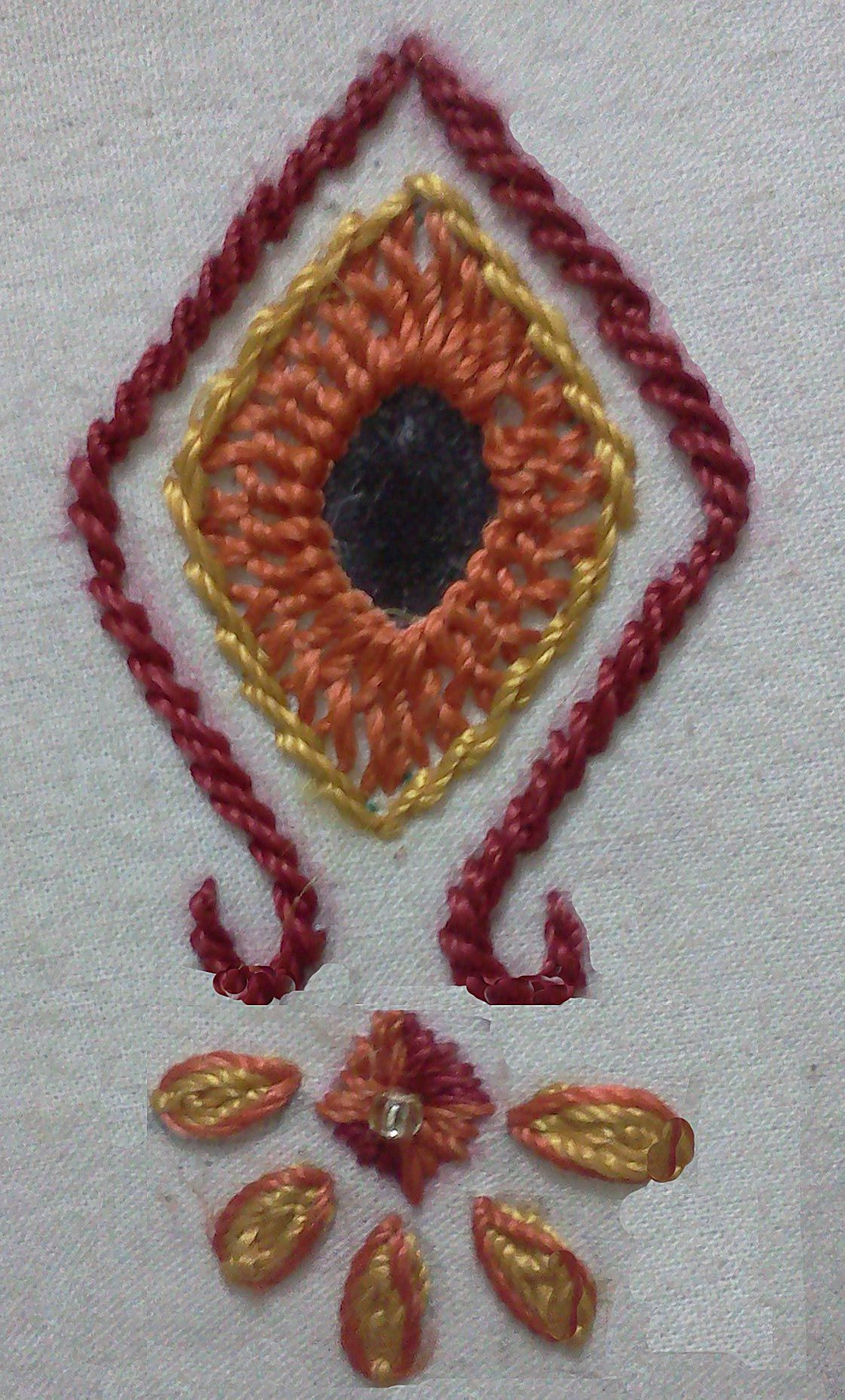 Square mirror hand embroidery pinterest squares
