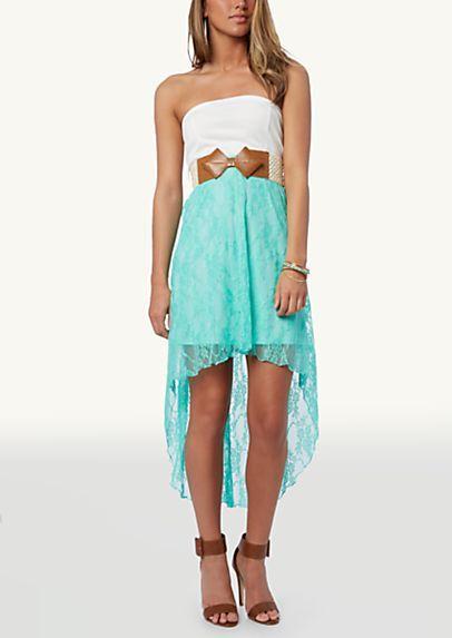 d5859d71535 Cutout Ponte Lace High Low Dress