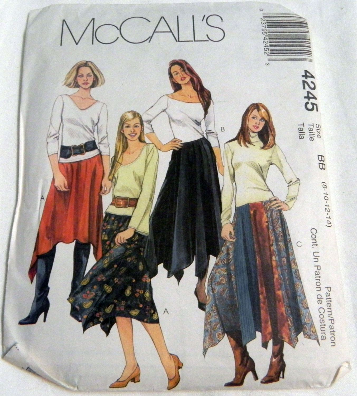 Vintage Butterick SEWING Pattern 4245 Misses EASY Tunic Pants UNCUT