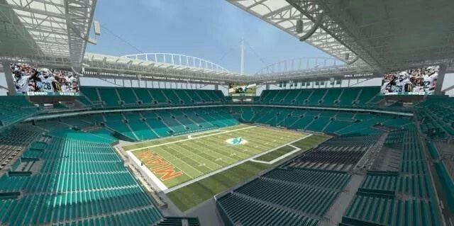 The newly renovated Sun Life Stadium in Miami Gardens, FLA will be ...