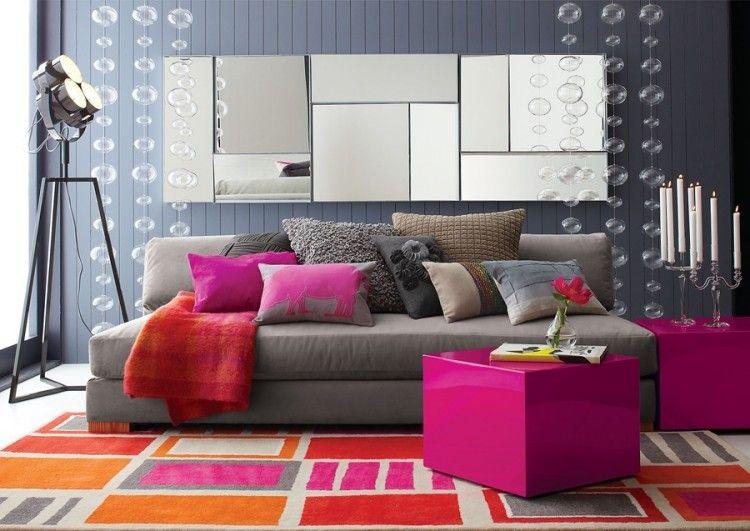 Déco salon moderne et chic invitez la couleur grise! Salons