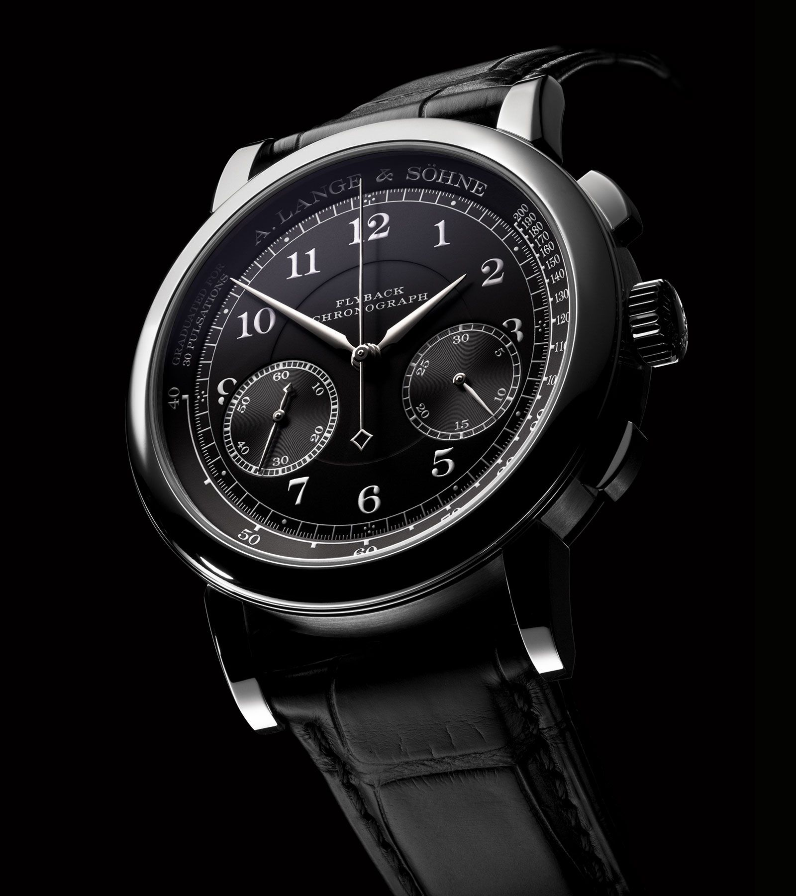 Debut A Lange Sohne Lange 1815 Flyback Chronograph With Black Dial Perpetuelle